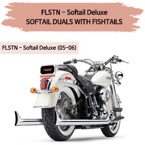 (05-06) SOFTAIL DUALS WITH FISHTAILS 풀시스템 할리 머플러 코브라 소프테일 디럭스