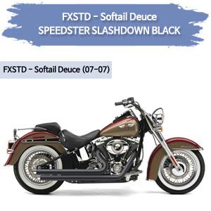 (07-07) 블랙 SPEEDSTER SLASHDOWN 풀시스템 할리 코브라 소프테일 듀스 머플러