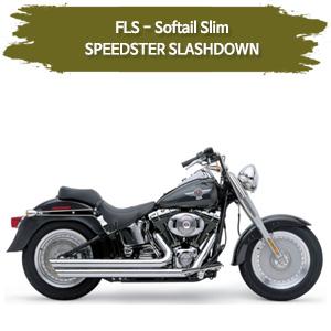 (12-17) SLASHDOWN 풀시스템 SPEEDSTER  할리 소프테일 슬림 머플러 코브라