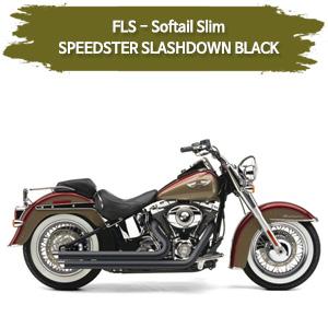 2012-2017 슬림 BLACK SPEEDSTER SLASHDOWN 풀시스템 할리 코브라 소프테일 머플러