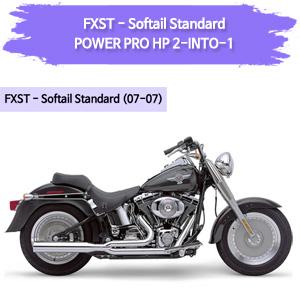 (07-07) POWER PRO HP 2-INTO-1 풀시스템 할리 코브라 소프테일 스탠다드 머플러