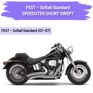 (07-07) 스탠다드 SPEEDSTER SHORT SWEPT 풀시스템 할리 머플러 코브라 소프테일
