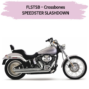 (08-11) 슬래쉬다운 SPEEDSTER 풀시스템 할리 머플러 코브라 소프테일 크로스본즈