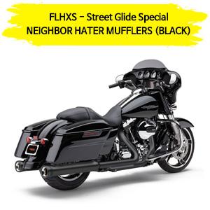 (14-17) NEIGHBOR HATER (BLACK) 슬립온 할리 머플러 코브라 베거스 스트리트 글라이드 스페셜