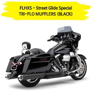 BLACK 스트리트 글라이드 스페셜 (14-16) TRI-FLO 슬립온 할리 머플러 코브라 베거스