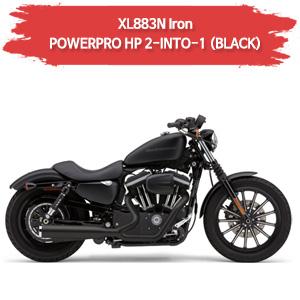 (09-13) BLACK 풀시스템 아이언 POWER PRO HP 2-INTO-1 할리 코브라 스포스터 XL883N머플러