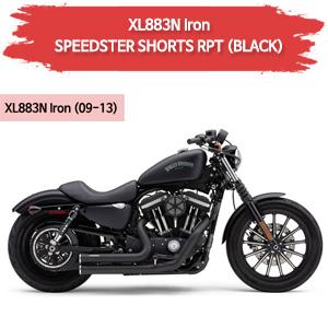 (09-13) BLACK 스피드스터 SHORTS RPT 풀시스템 할리 스포스터 XL883N 아이언 머플러 코브라