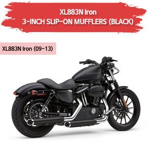 (09-13) 스포스터 XL883N 아이언 3-INCH (BLACK) 슬립온 할리 머플러 코브라
