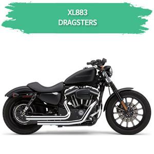 (07-08) 할리 풀시스템 DRAGSTERS 머플러 코브라 스포스터 XL883