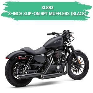 (04-08) 스포스터 XL883 3-INCH RPT (BLACK) 슬립온 할리 머플러 코브라