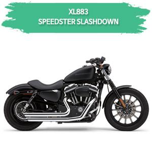 (04-06) 스포스터 XL883 SPEEDSTER SLASHDOWN 풀시스템 할리 머플러 코브라