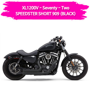 (14-16) BLACK 풀시스템 SPEEDSTER SHORT 909 슬립온 할리 머플러 코브라 스포스터 XL1200V 세븐티투
