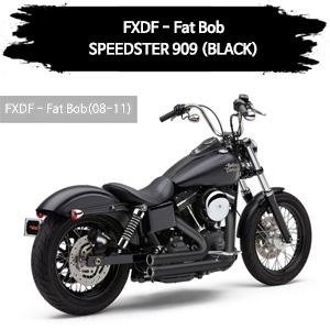 (08,10-11) SPEEDSTER 909 (BLACK) 풀시스템 할리 머플러 코브라 다이나 팻 밥