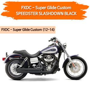 (12-14) BLACK SLASHDOWN SPEEDSTER 풀시스템 할리 머플러 코브라 다이나 슈퍼 글라이드 커스텀