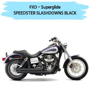 (06-10) 슬래쉬다운 SPEEDSTER BLACK 코브라 다이나 슈퍼 글라이드 할리 풀시스템 머플러