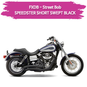 (06-11) BLACK 풀시스템 스피드스터 SHORT SWEPT 할리 머플러 코브라 다이나 스트리트 밥