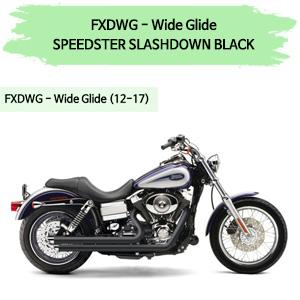 (12-17) BLACK SLASHDOWN SPEEDSTER 풀시스템 할리 머플러 코브라 다이나 와이드 글라이드
