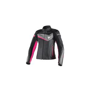 다이네즈 자켓, 가죽 자켓 Dainese Veloster Lady (Black/Grey/Pink) - 여성용 벨로스터