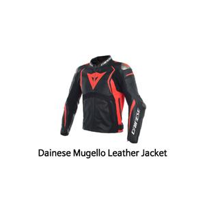 다이네즈 자켓, 가죽 자켓 Dainese Mugello Leather Jacket (Black/Red)