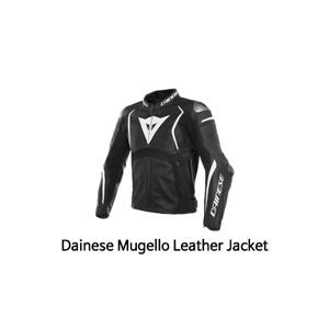 다이네즈 자켓, 가죽 자켓 Dainese Mugello Leather Jacket (Black/White)