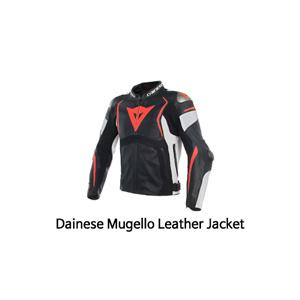 다이네즈 자켓, 가죽 자켓 Dainese Mugello Leather Jacket (Black/White/Red)