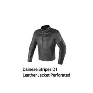 다이네즈 자켓, 가죽 자켓 Dainese Stripes D1 Leather Jacket Perforated (Black)