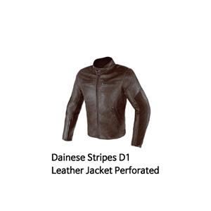 다이네즈 자켓, 가죽 자켓 Dainese Stripes D1 Leather Jacket Perforated (Brown)