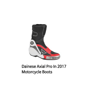 다이네즈 부츠 Dainese Axial Pro In 2017 Motorcycle Boots (White/Red)