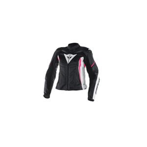 다이네즈 자켓, 가죽 자켓 Dainese Avro D1 Lady (Black/White/Pink) - 여성용 아브로