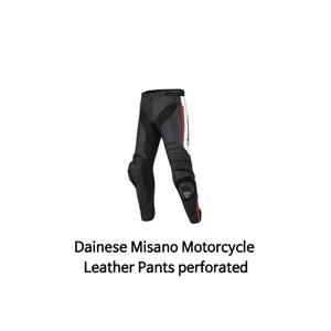 다이네즈 바지, 가죽 바지 Dainese Misano Motorcycle Leather Pants perforated (Black/White/Red)