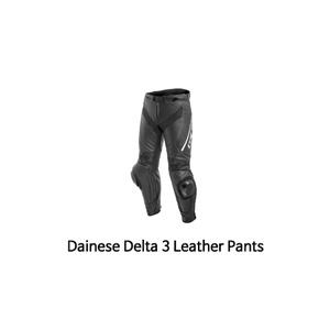 다이네즈 바지, 가죽 바지 Dainese Delta 3 Leather Pants (Black/White)