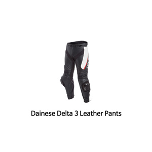 다이네즈 바지, 가죽 바지 Dainese Delta 3 Leather Pants (Black/White/Red)