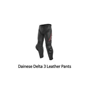 다이네즈 바지, 가죽 바지 Dainese Delta 3 Leather Pants (Black/Red)
