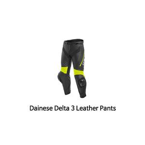 다이네즈 바지, 가죽 바지 Dainese Delta 3 Leather Pants (Black/Yellow)