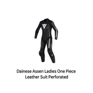 다이네즈 슈트 원피스 Dainese Assen Ladies One Piece Leather Suit Perforated (Black/White)