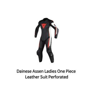 다이네즈 슈트 원피스 Dainese Assen Ladies One Piece Leather Suit Perforated (Black/White/Red)