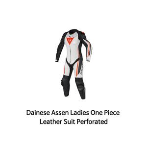 다이네즈 슈트 원피스 Dainese Assen Ladies One Piece Leather Suit Perforated (White/Black/Red)