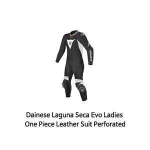 다이네즈 슈트 원피스 Dainese Laguna Seca Evo Ladies One Piece Leather Suit Perforated (Black/White)