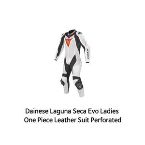 다이네즈 슈트 원피스 Dainese Laguna Seca Evo Ladies One Piece Leather Suit Perforated (White/Black/Red)
