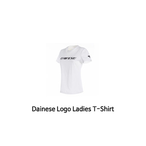 다이네즈 상의, 다이네즈 티셔츠 Dainese Logo Ladies T-Shirt (White/Black)