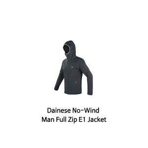 다이네즈 상의, 다이네즈 티셔츠 Dainese No-Wind Man Full Zip E1 Jacket (Black/Blue)