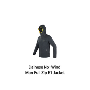 다이네즈 상의, 다이네즈 티셔츠 Dainese No-Wind Man Full Zip E1 Jacket (Black/Yellow)