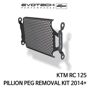 KTM RC125 PILLION PEG REMOVAL KIT 2014+ 에보텍