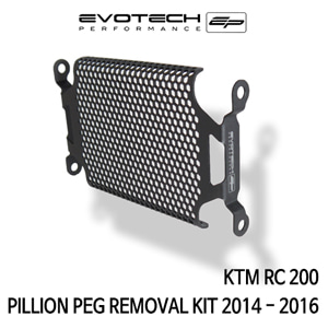 KTM RC200 PILLION PEG REMOVAL KIT 2014-2016 에보텍