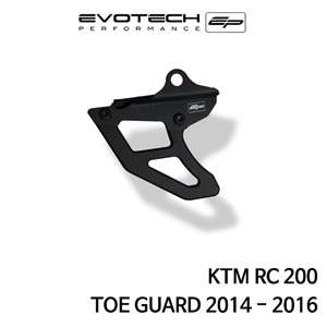 KTM RC200 TOE GUARD 2014-2016 에보텍