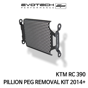 KTM RC390 PILLION PEG REMOVAL KIT 2014+ 에보텍