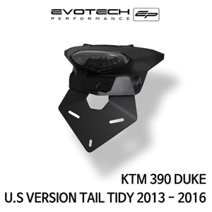 KTM 390듀크 U.S VERSION 번호판휀다리스키트 2013-2016 에보텍