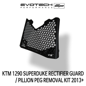 KTM 1290 SUPER듀크 RECTIFIER GUARD / PILLION PEG REMOVAL KIT 2013+ 에보텍