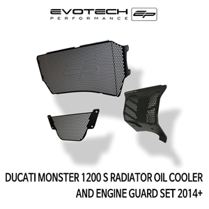 두카티 몬스터1200S RADIATOR OIL COOLER AND ENGINE GUARD SET 2014+ 에보텍