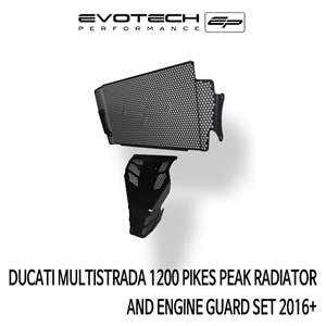 두카티 멀티스트라다1200 PIKES PEAK 라지에다엔진가드세트 2016+ 에보텍